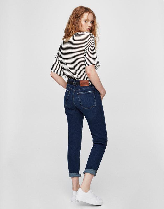 Regular-Fit-Jeans mit halbhohem Bund