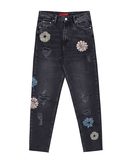 Jeans mom fit flores
