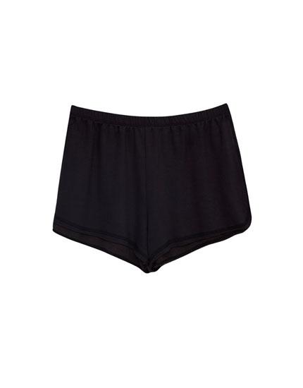 Plush fabric basic shorts