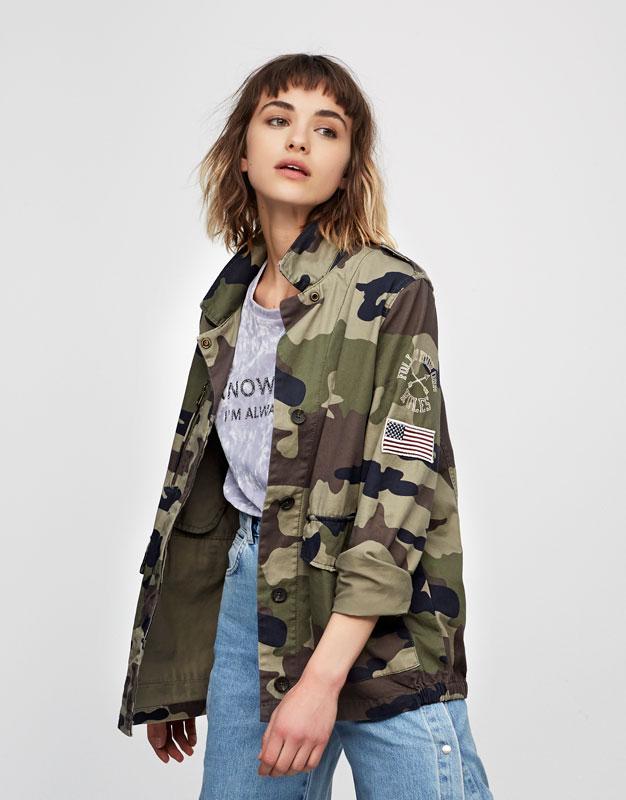 Asos Veste Femme Militaire Militaire Veste Femme fX56wn