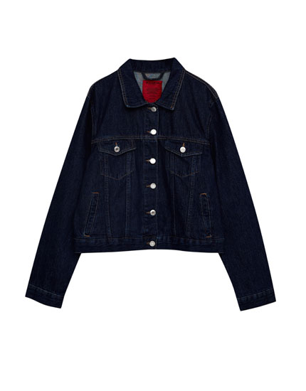 Denim jacket with back frills