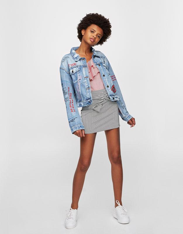 Oversized printed jacket