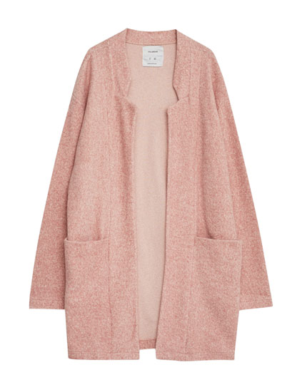 Soft flecked coat