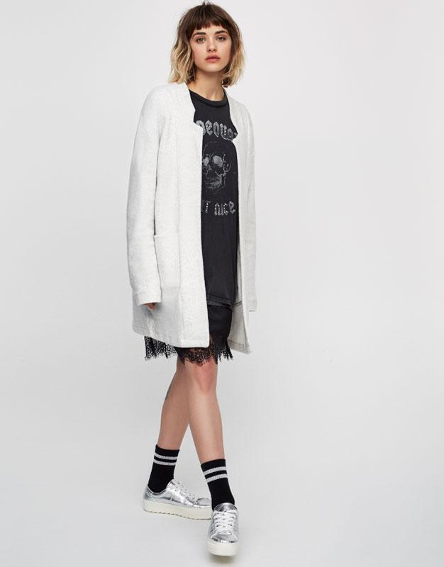 Marmurkowy płaszcz soft