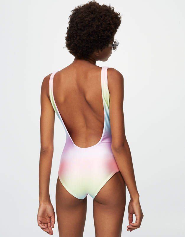 Colourful reversible swimsuit