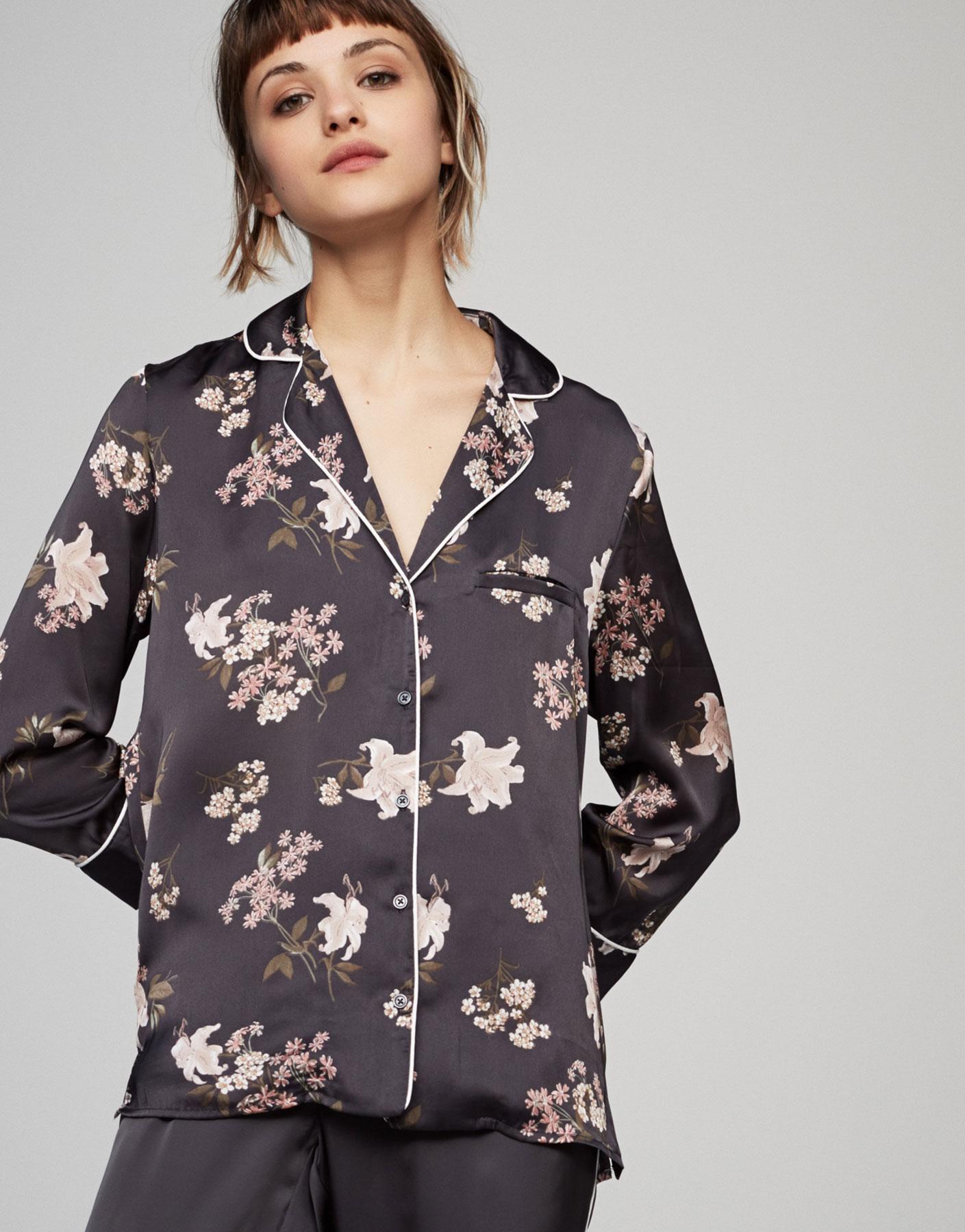 Camisa pijama estampado floes
