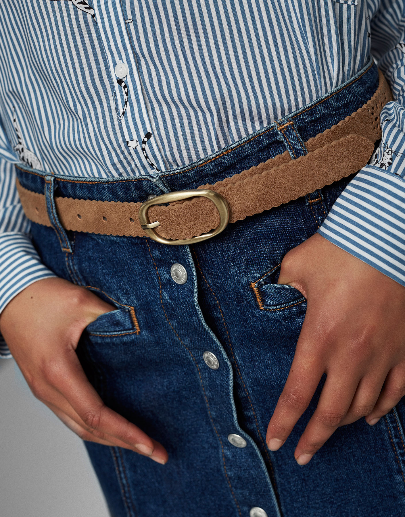 Cut work belt