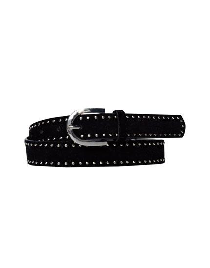 Metallic studs belt
