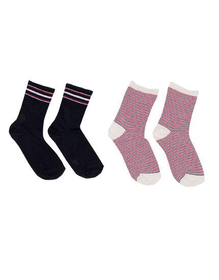 Pack of striped socks