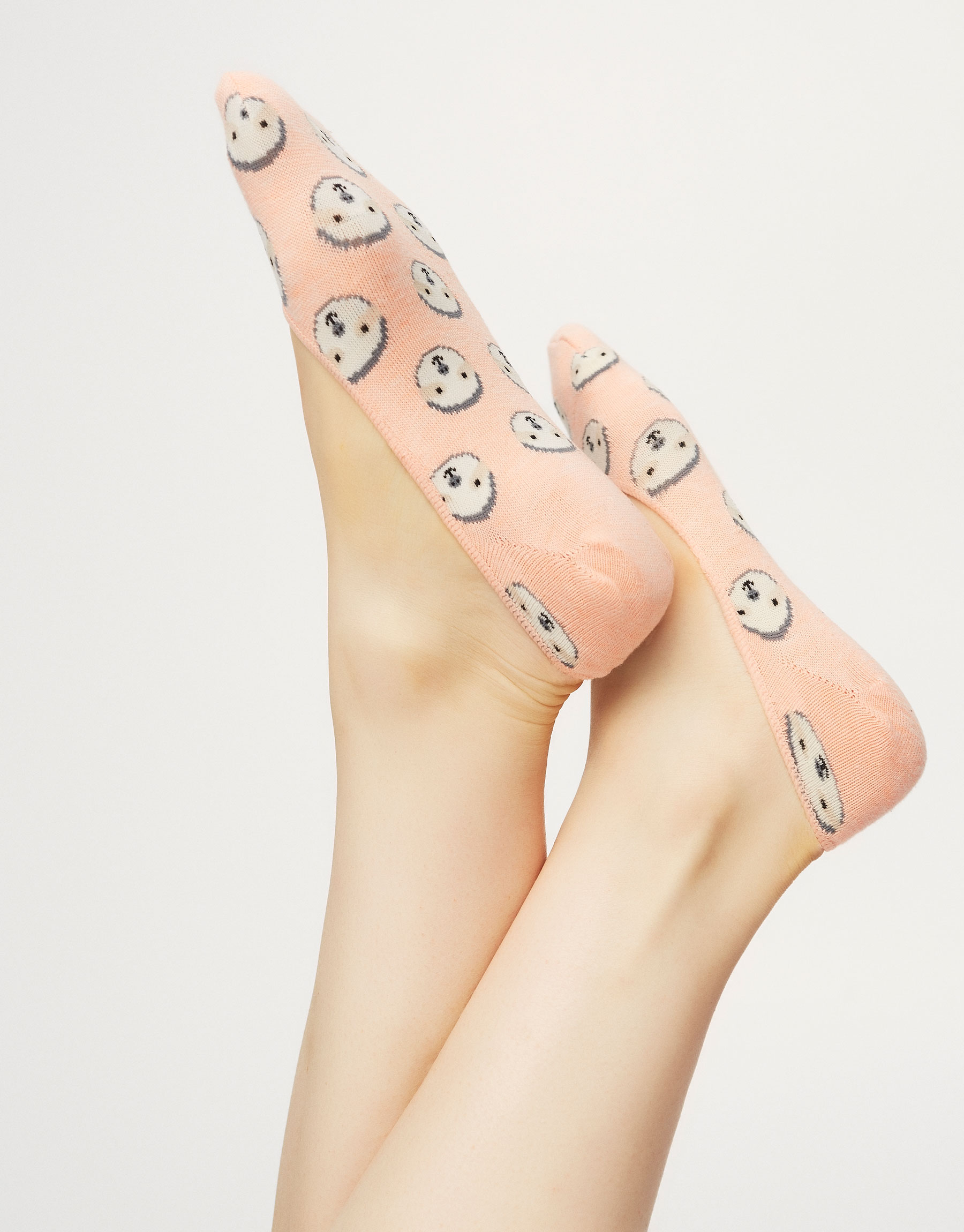 3-Pack sloth no show socks