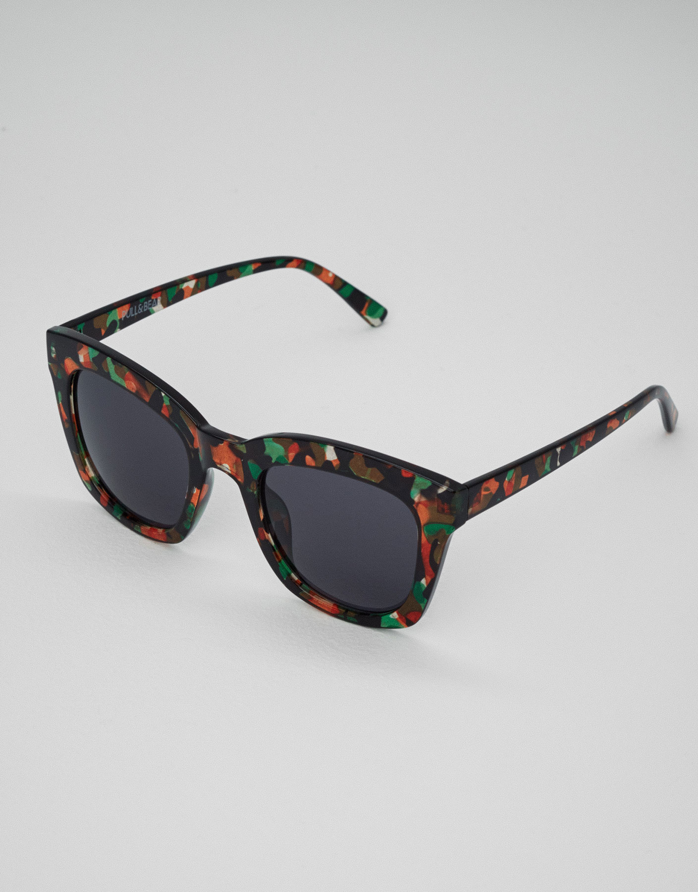 Square glitter sunglasses