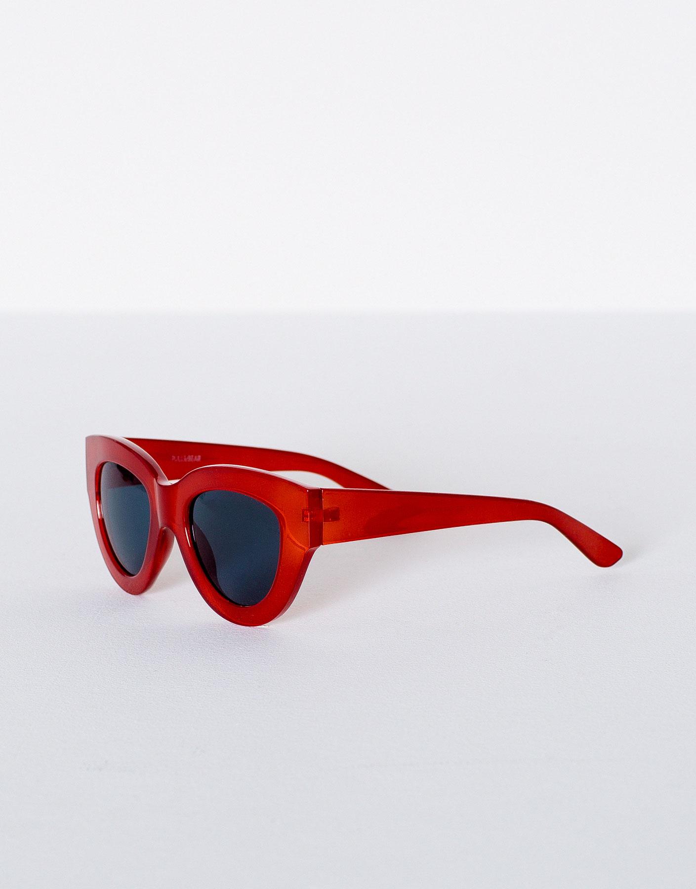 Gafas pasta rojas