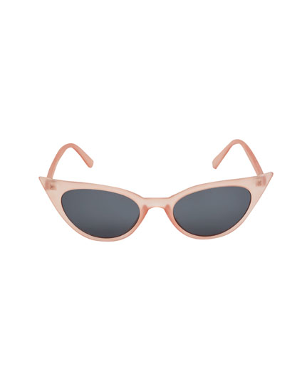 Pink cat's eye sunglasses