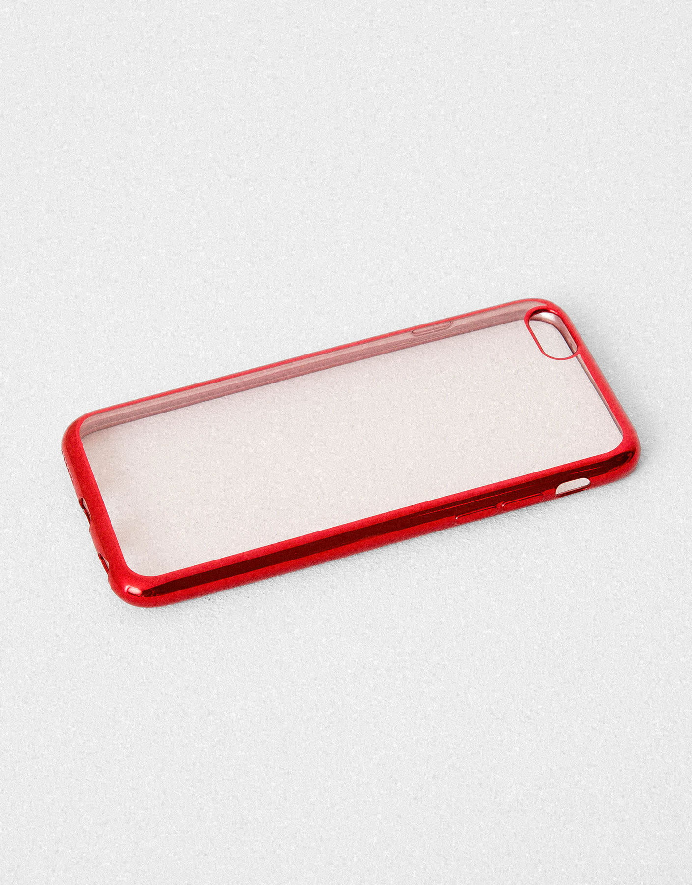Metallic edge mobile cover