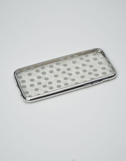 Silver polka dots case
