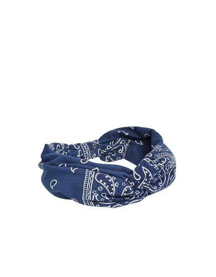 Fabric bandana-style hairband