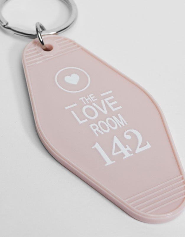 Motel room keychain