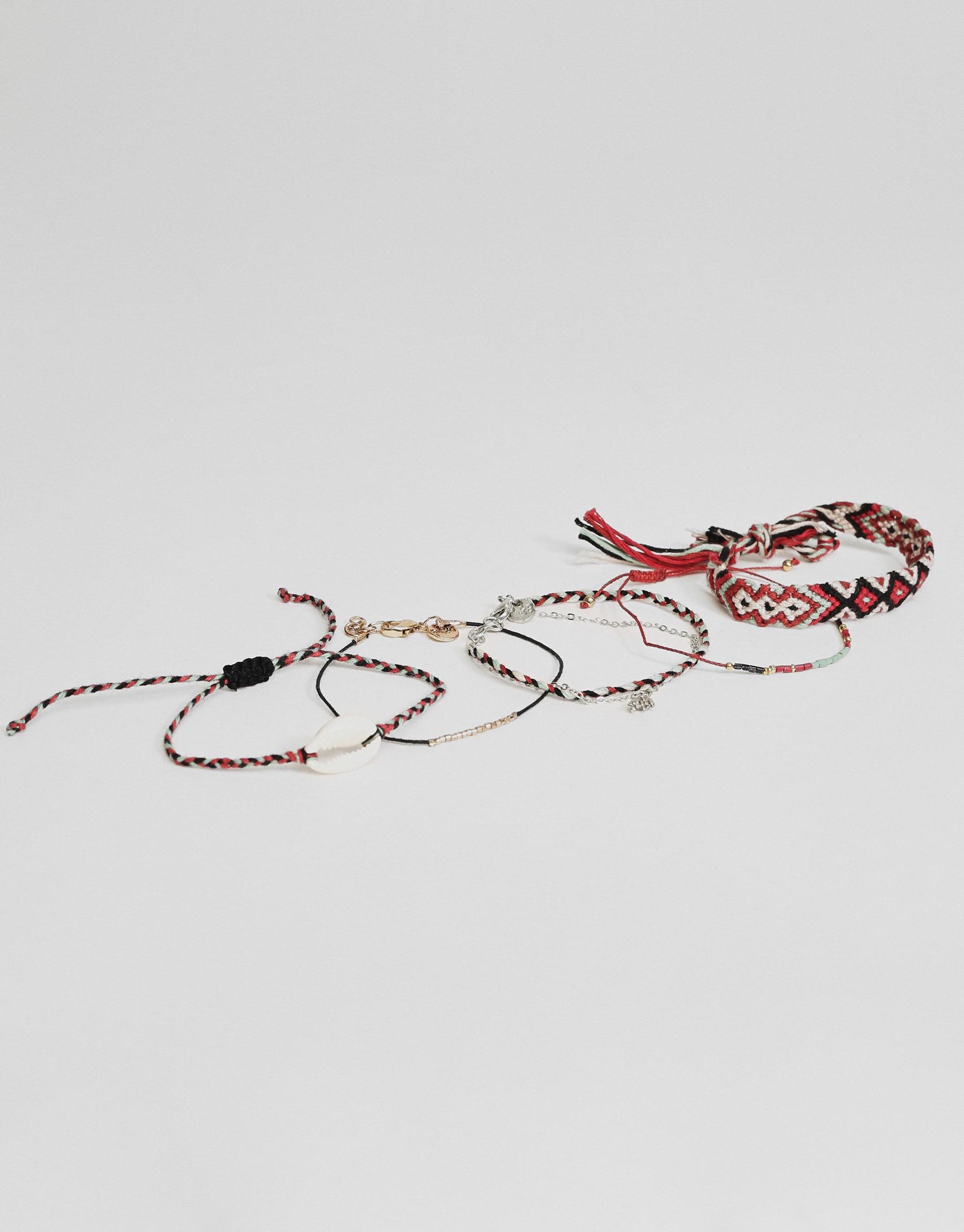 5-Pack of thread bracelets