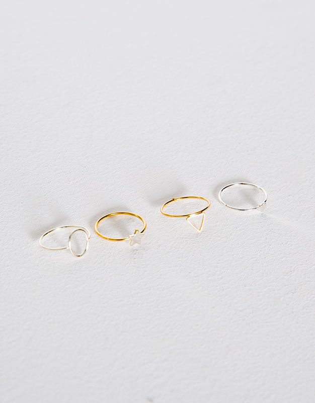4-Pack of thin rings
