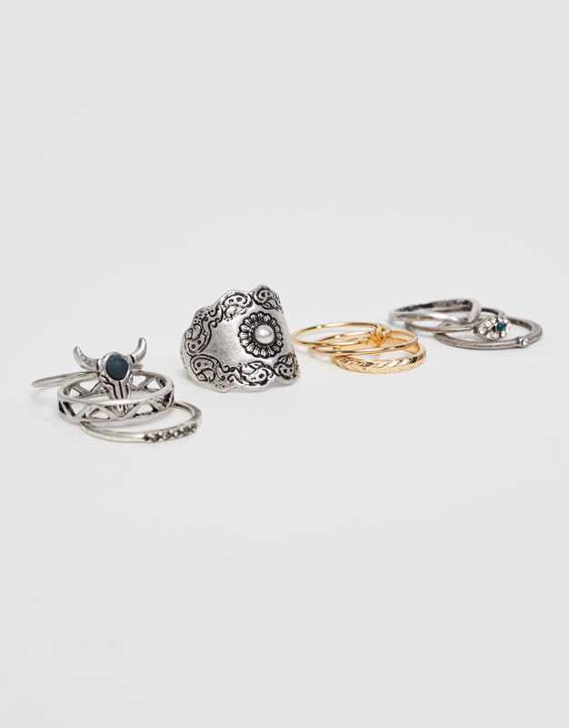 10-pack of assorted rings