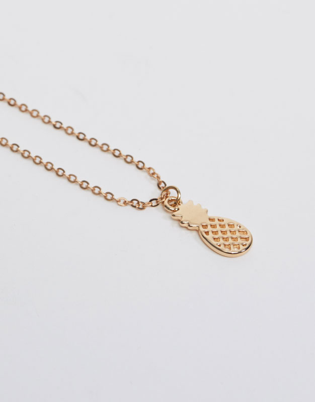 Thin necklace with pineapple charm