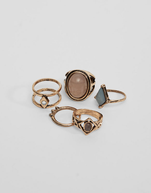 Pack of 5 assorted rings