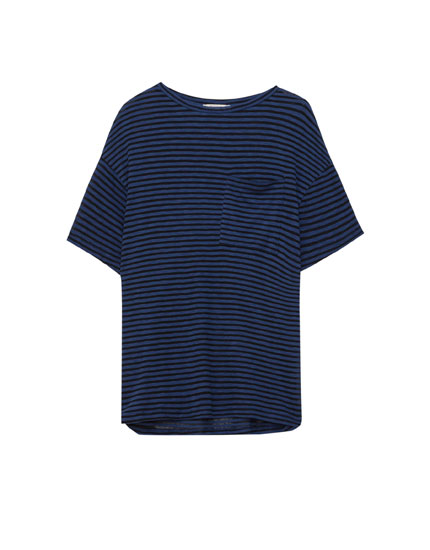 Basic striped oversized T-shirt