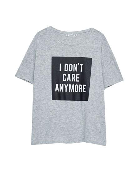 Camiseta print mensaje