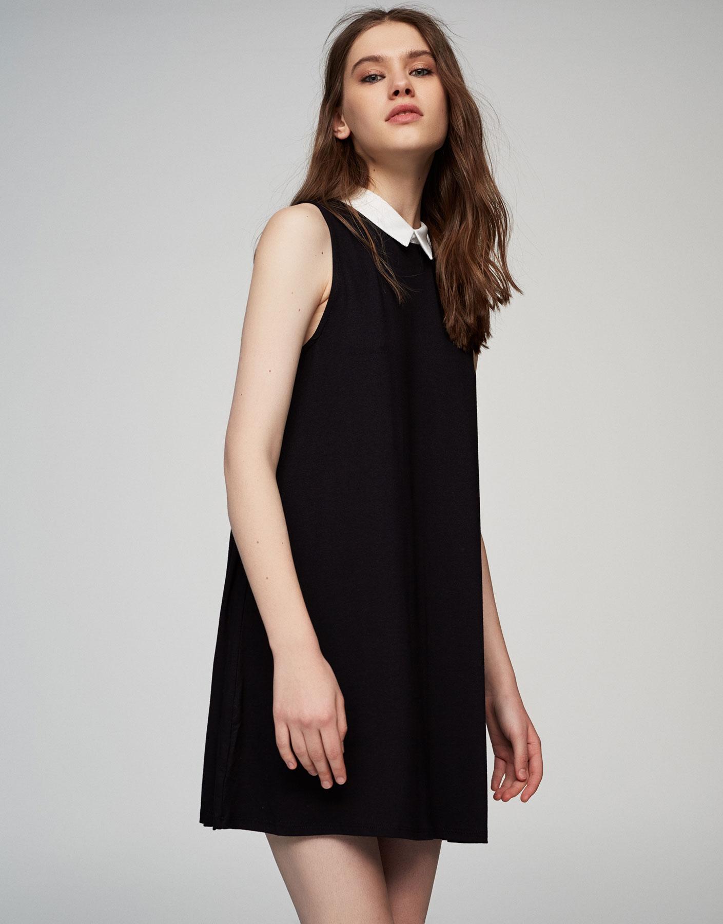 Dress with shirt collar
