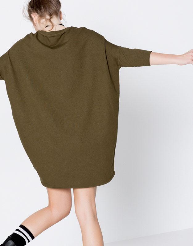 Vestido cocoon liso