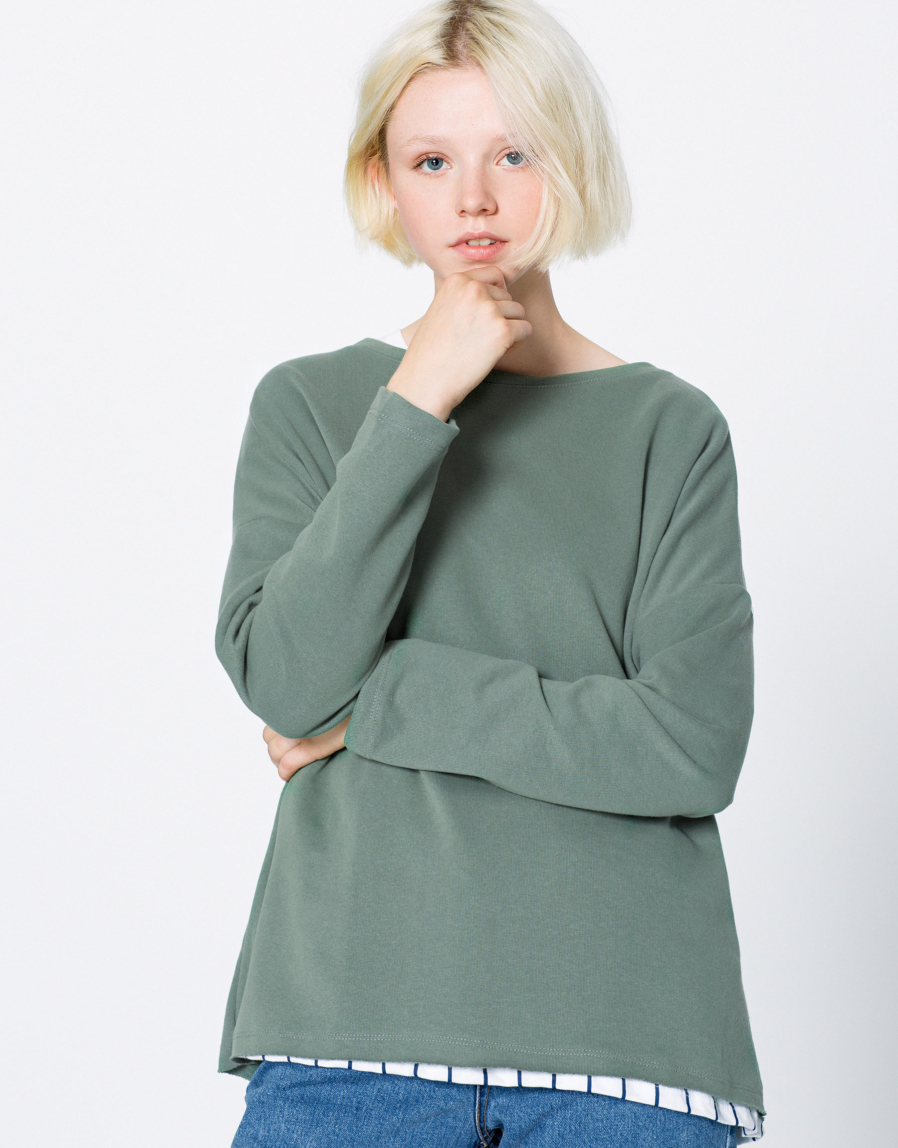 Piped seam sweatshirt