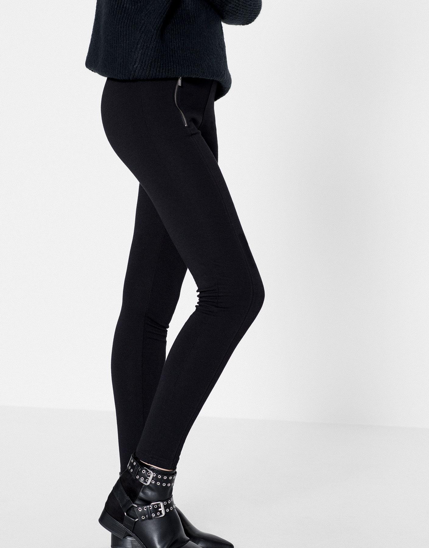 Zipped leggings