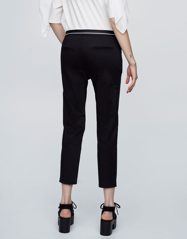 Chino trousers with stretch waist