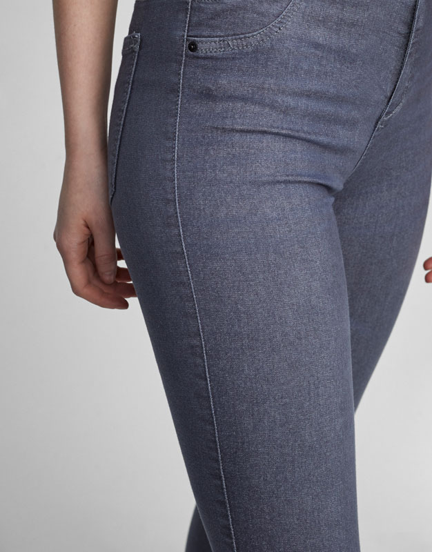 Basic stretch mid-rise jeggings