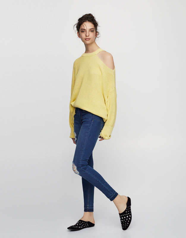 Push up mid-rise jeans