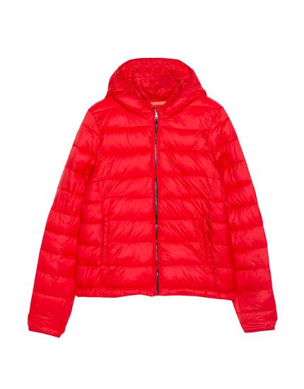 Basic nylon jacket with hood