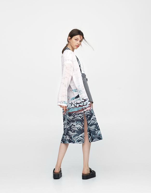 Kimono long imprimé