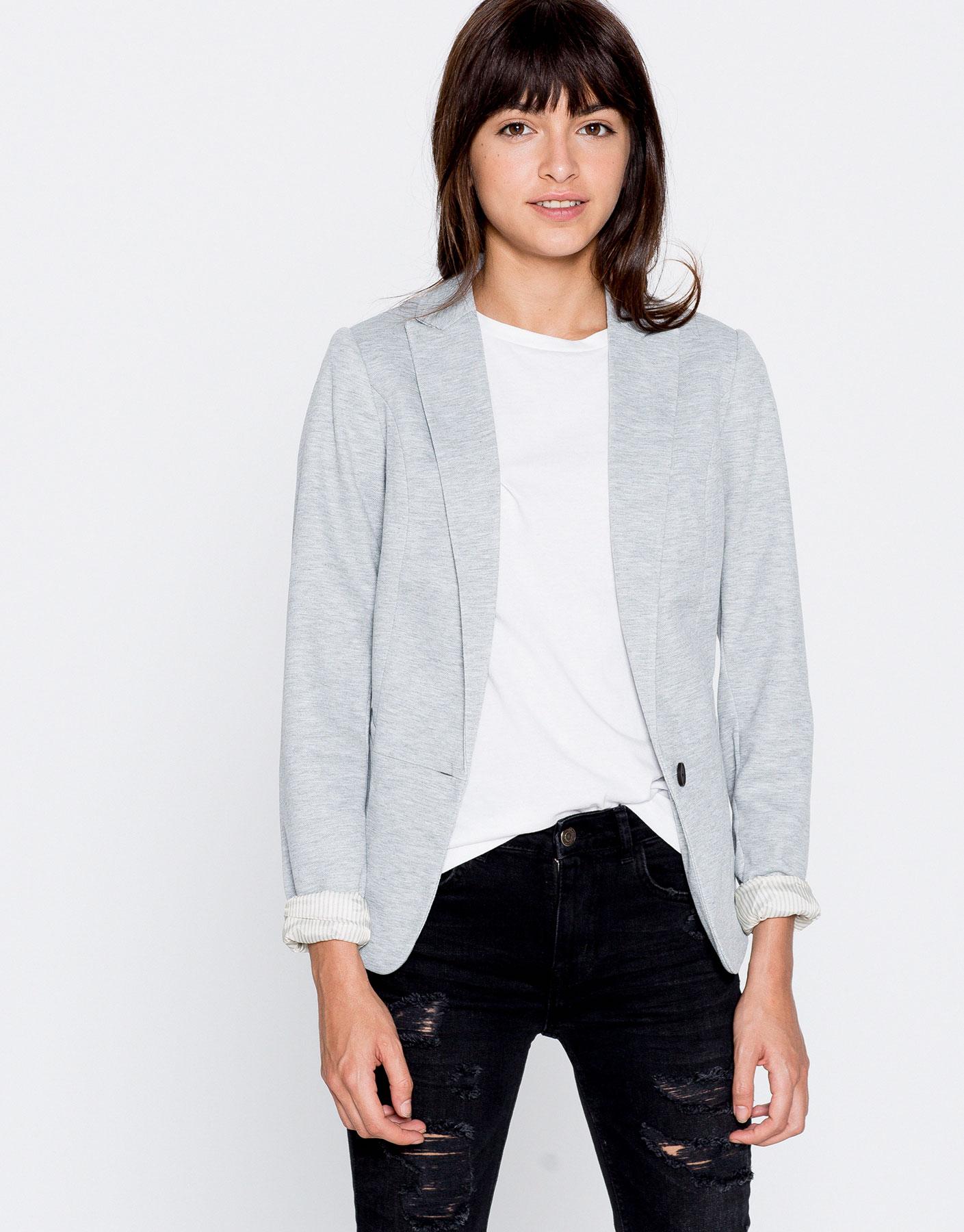 Basic piqué blazer