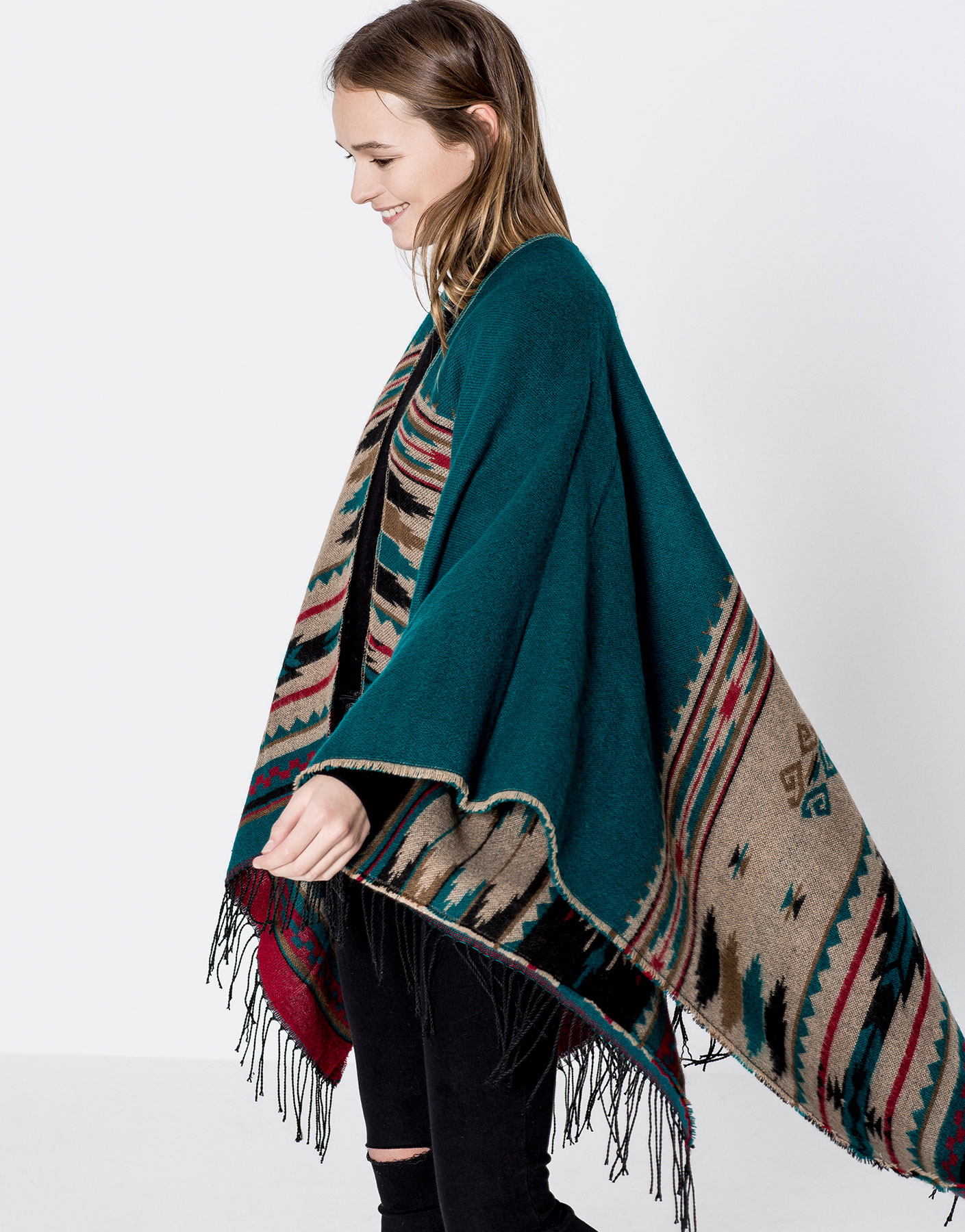 Reversible tribal poncho