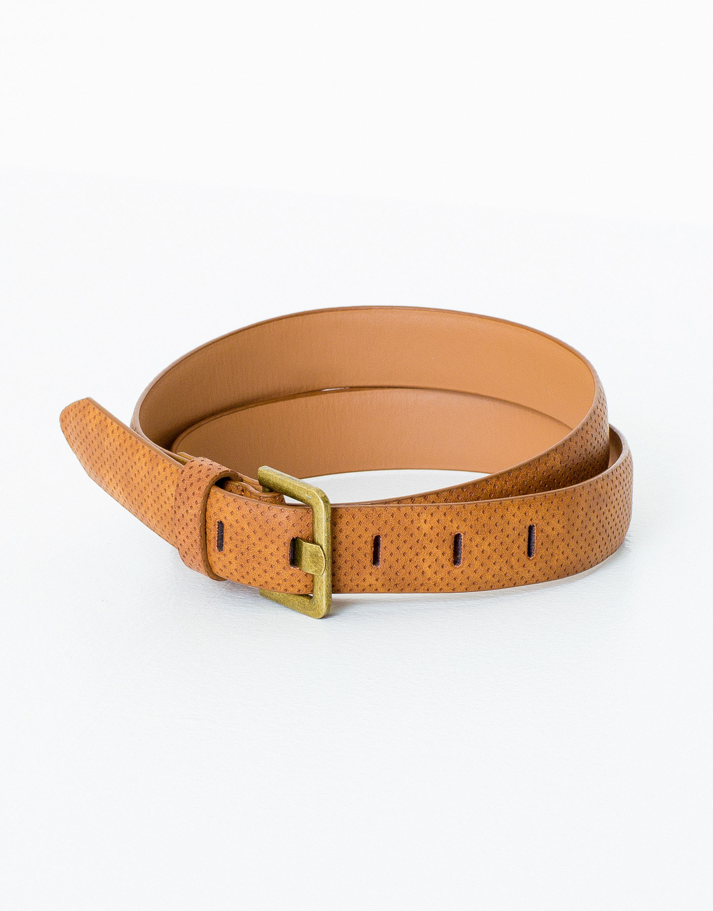 Stitched cutwork belt