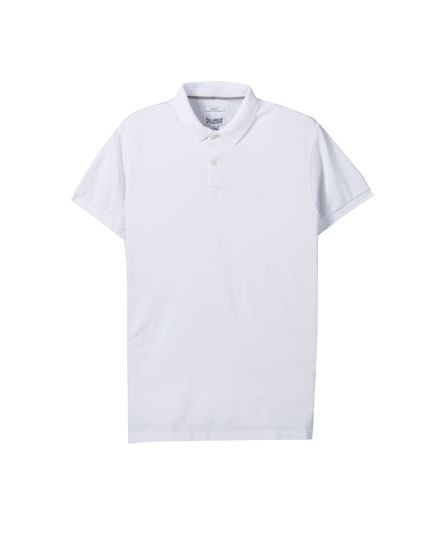 Basic piqué polo shirt