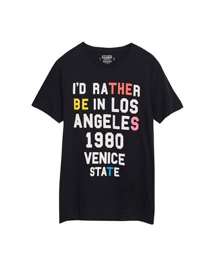 T-shirt inscription devant