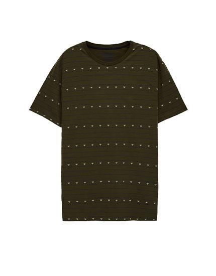 Printed khaki T-shirt