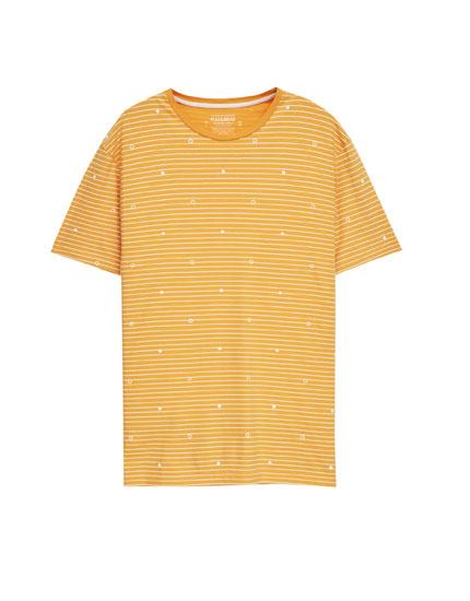 Printed mustard T-shirt