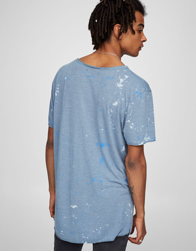 T-shirt with paint-effect print
