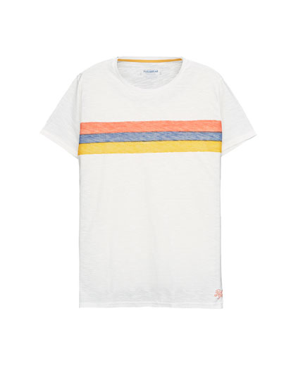 T-shirt with horizontal stripes print