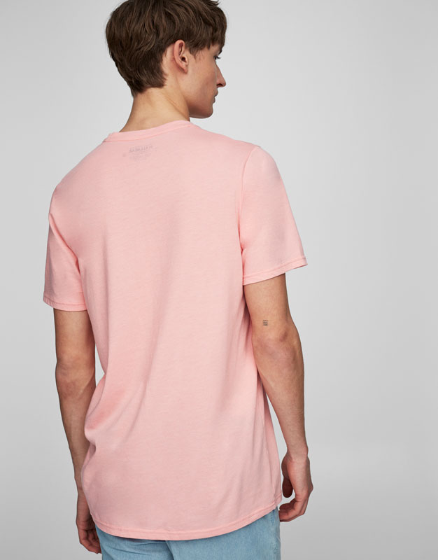 Photo print pink T-shirt