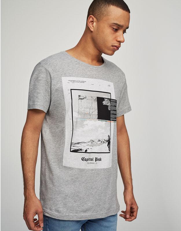 Grey printed T-shirt