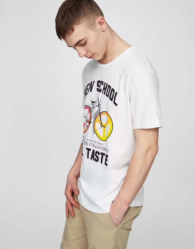 Bicycle print t-shirt