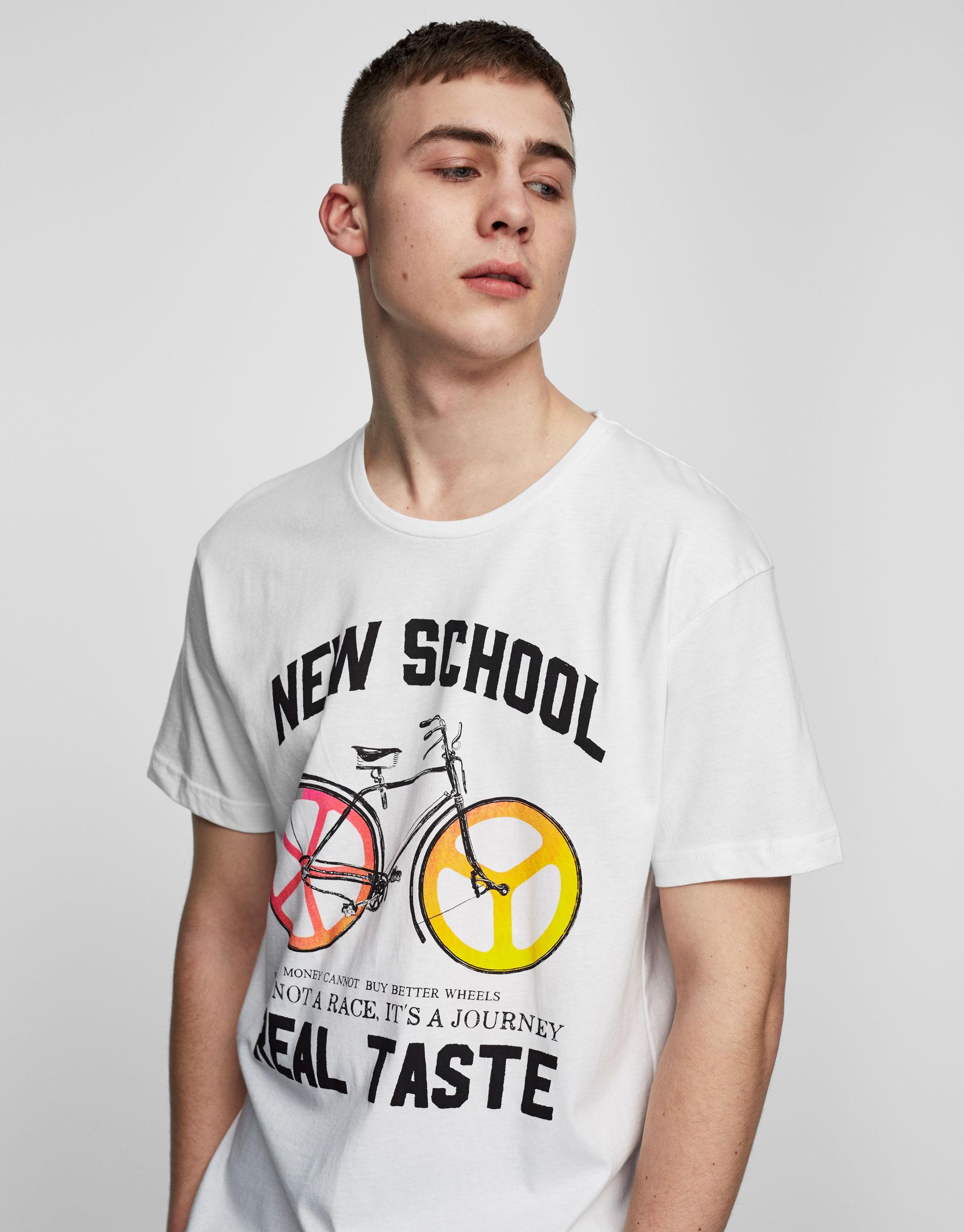 T-Shirt mit Fahrradprint